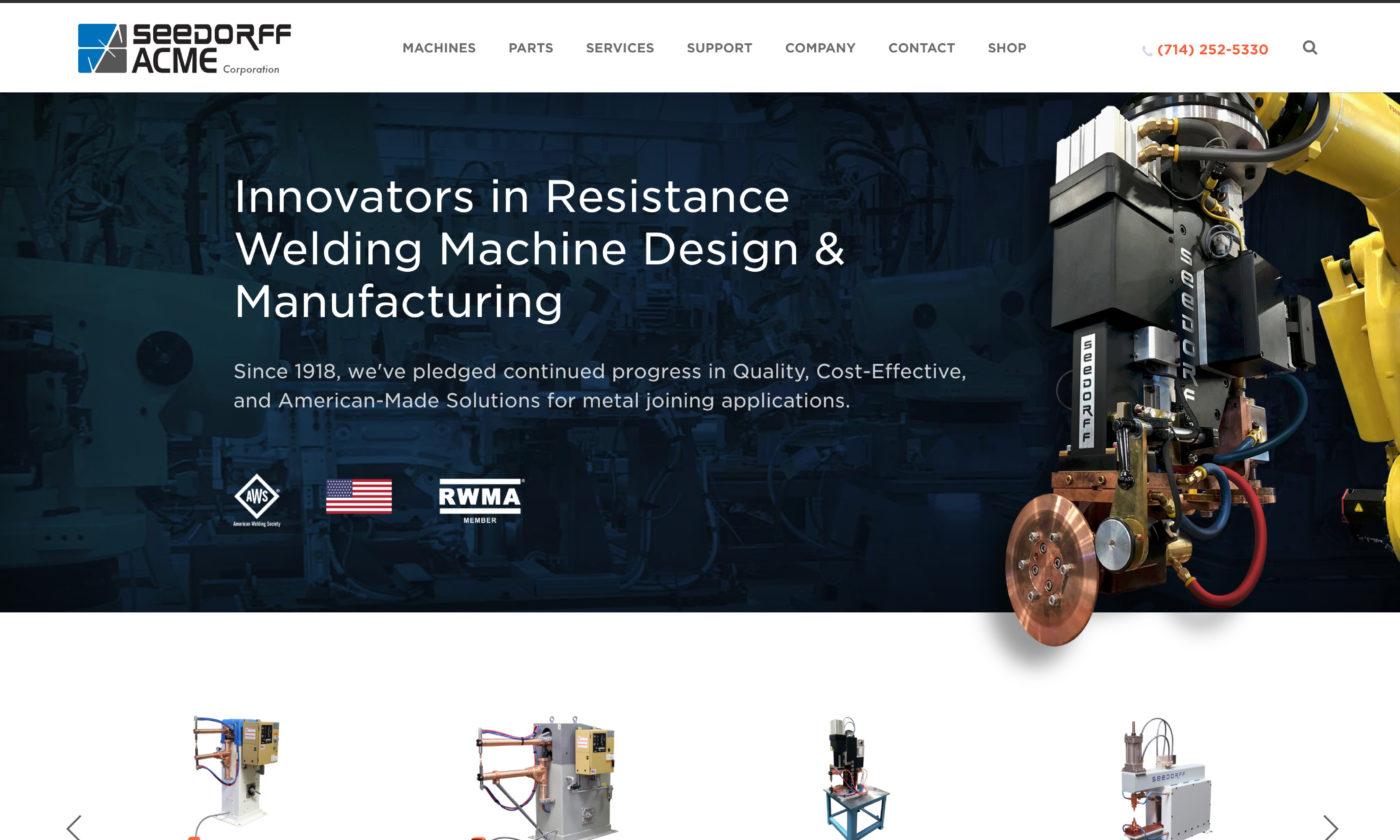 Seedorff ACME Website Screenshot