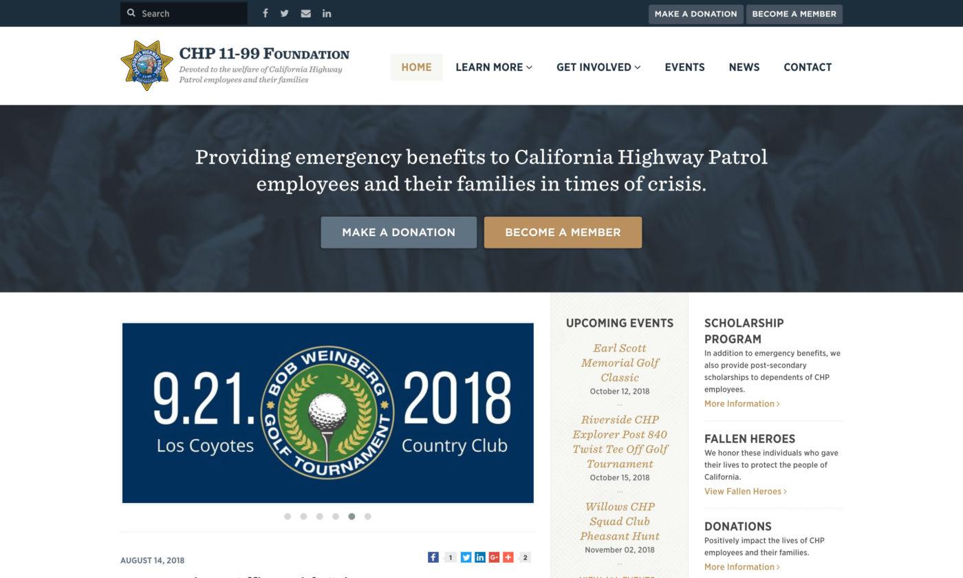 CHP 11-99 Foundation Website Screenshot