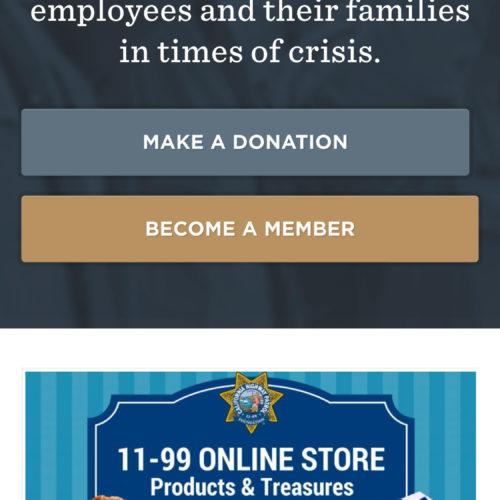 CHP 11-99 Foundation Mobile Website Screenshot